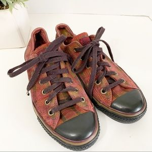 Converse All Star Plaid Sneakers size 8